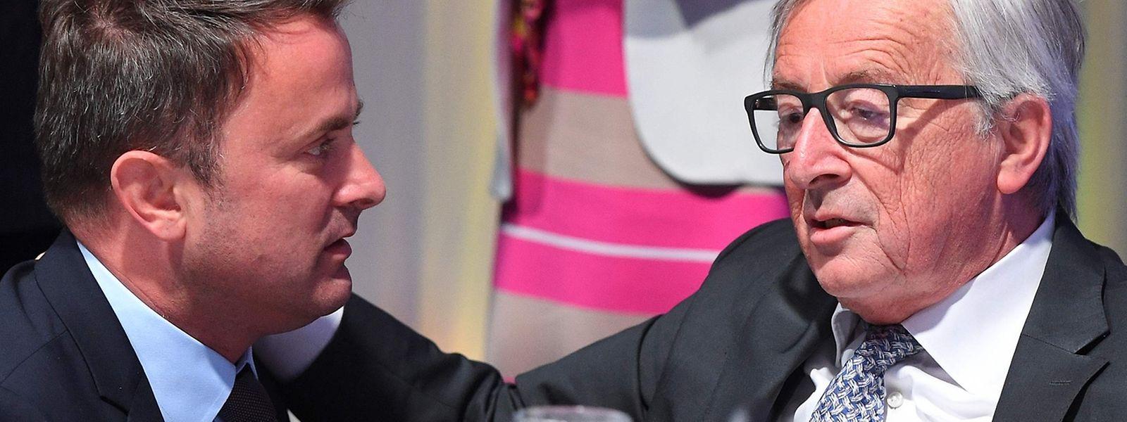 Premier Xavier Bettel und EU-Kommissionspräsident Jean-Claude Juncker nutzten die Gelegenheit zu einem Meinungsaustausch.