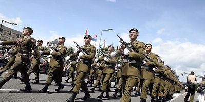 Luxembourg's army at a military parade