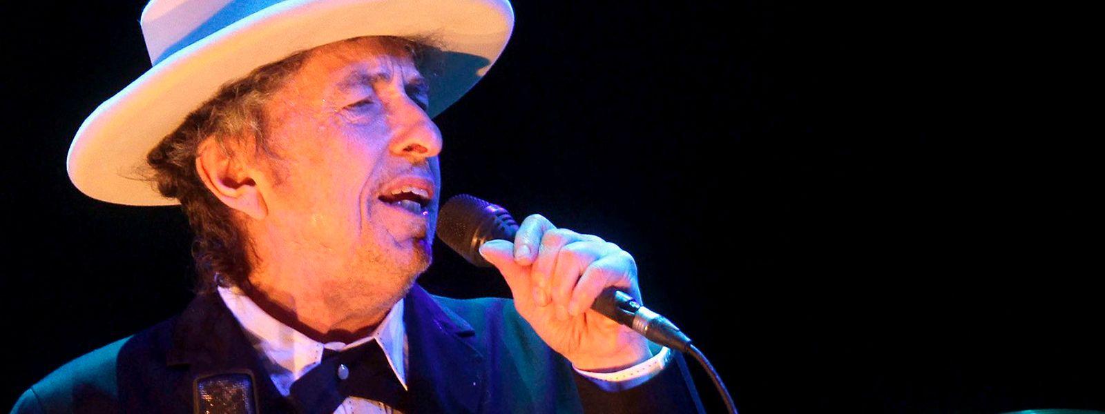 Bob Dylan, US-amerikanischer Singer-Songwriter, während eines Konzerts am 14. Juli 2012 in Spanien.