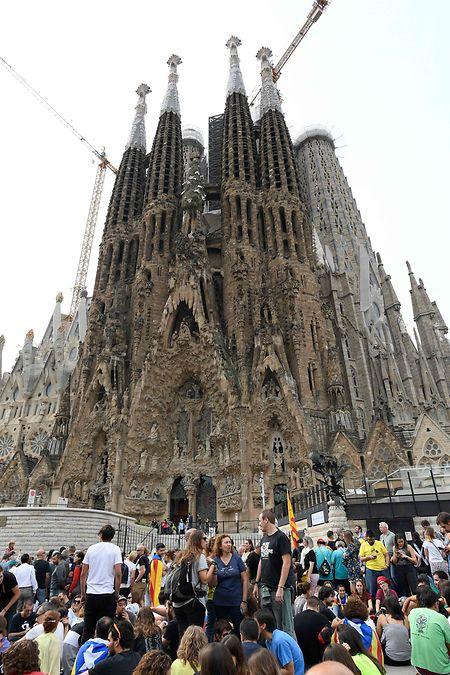 Die Sagrada Familia musste ganz geschlossen werden.