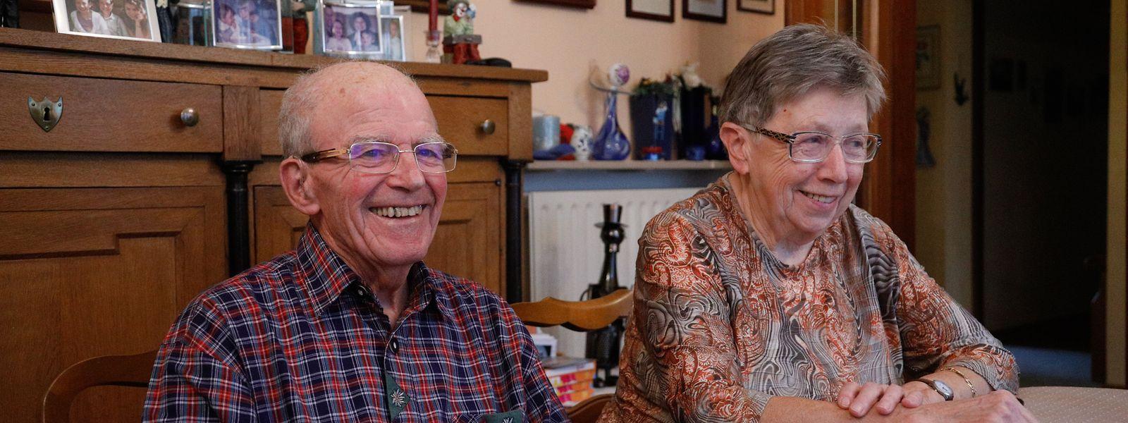Marie Koppes, 82, und ihr Mann Joseph Koppes, 88, aus Esch/Alzette sagen der Alzheimer-Erkrankung mit Lebensfreude und positivem Denken den Kampf an.