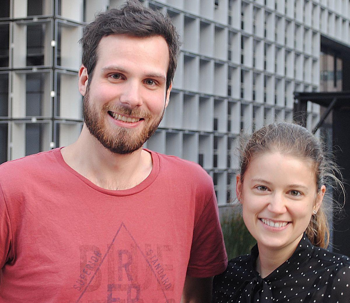 Derzeit suchen Alessandro Decarli (l.) und Violetta Schaan noch nach Teilnehmern für ihre Studie.
