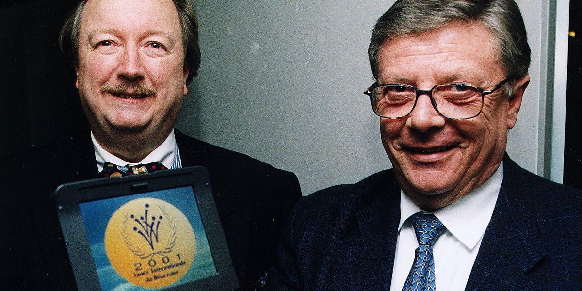 Menn Bodson (r.) mit seinem einstigen Freund und Arbeitskollegen Romain Goerend auf einer Aufnahme aus dem Jahr 2001.