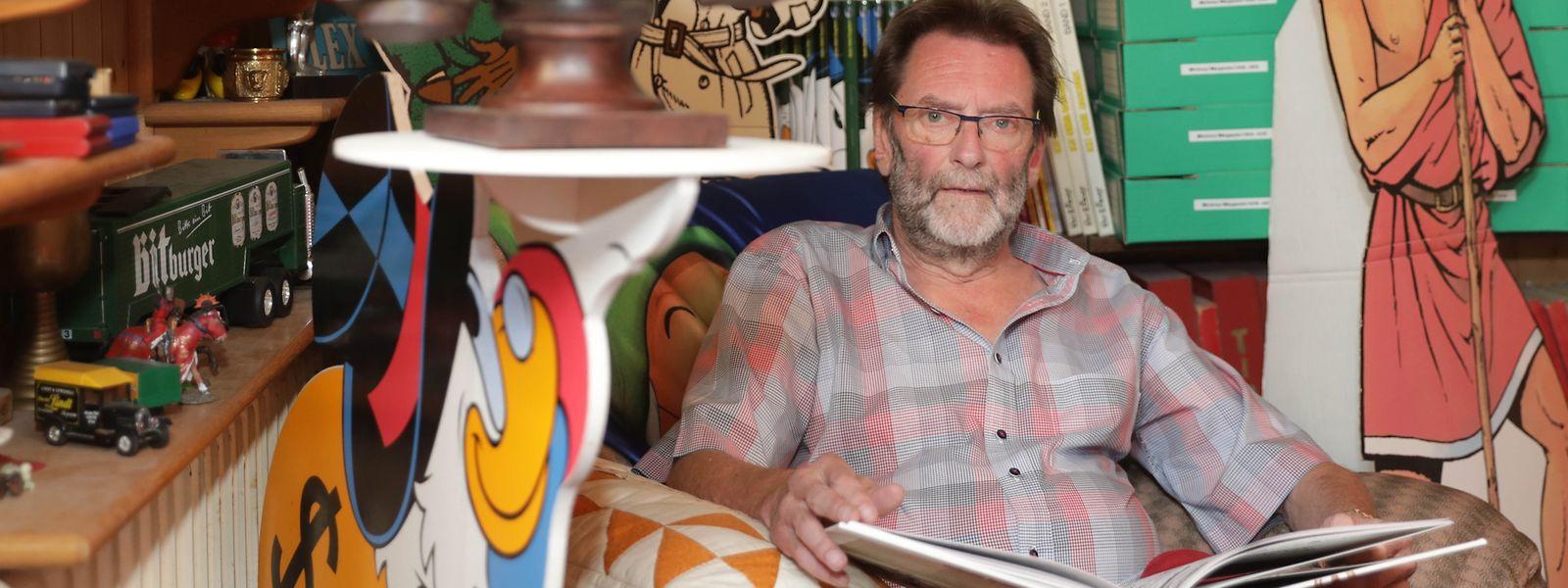 Über 16 000 Comic-Hefte und Comic-Gegenstände nennt Charles Bauer sein eigen.
