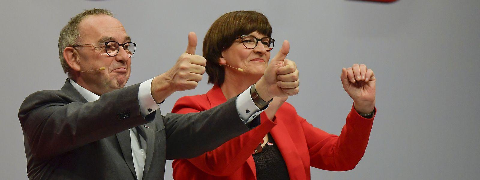 Norbert Walter-Borjans and Saskia Esken.