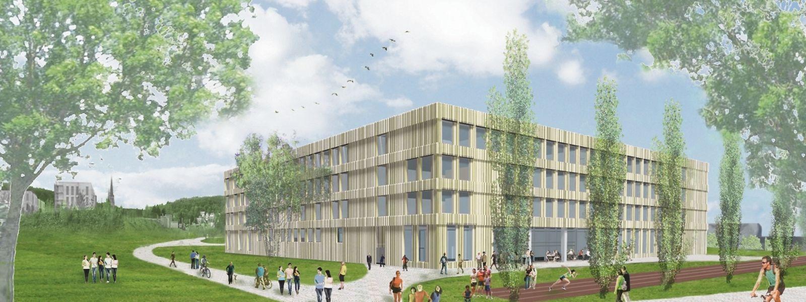 Die Baugenehmigung für den neuen Schulcampus wurde am Freitag unterschrieben.