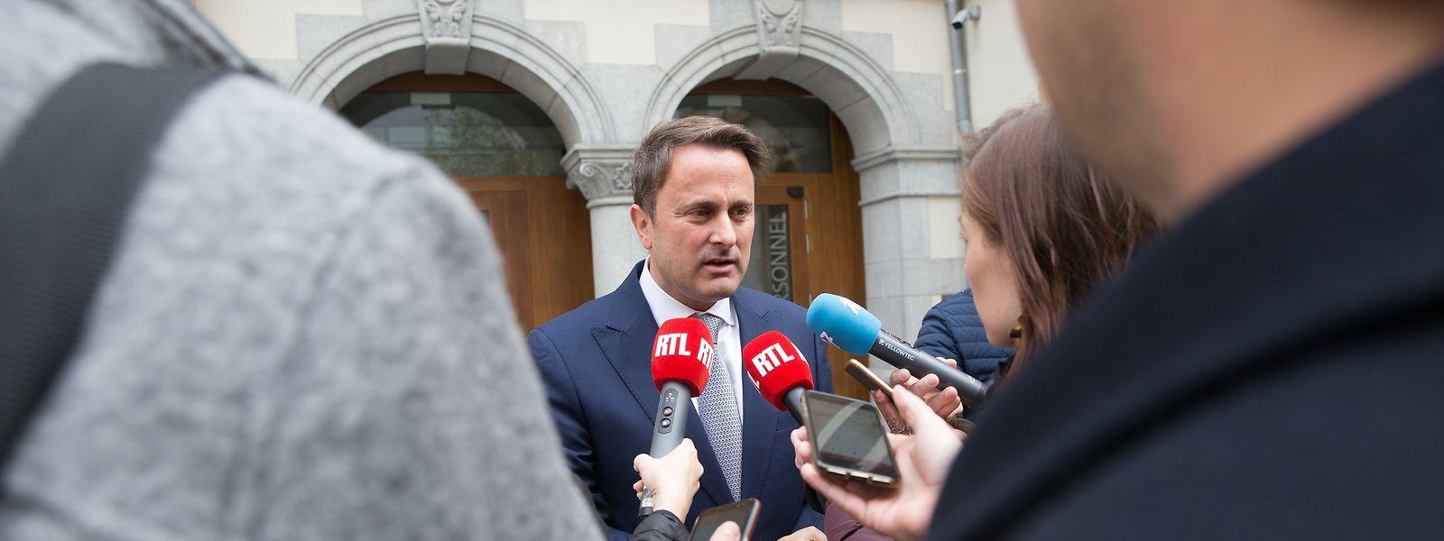 Formateur Xavier Bettel verkündete am Mittwochnachmittag das Ende der Koalitionsgespräche