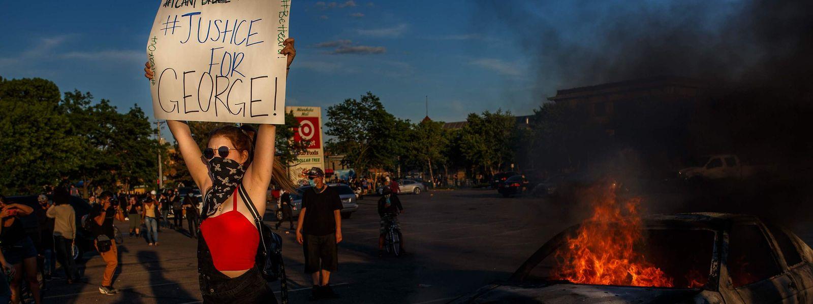 Die Proteste in Minneapolis nach dem Tod von George Floyd dauern an.