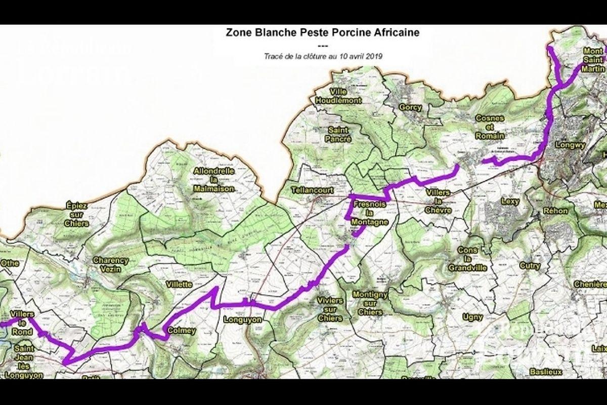 La nouvelle zone s'étend entre Villers-le-Rond et Mont-Saint-Martin, passant notamment par Longuyon et Cosnes-et-Romain, jusqu'à la frontière belge.