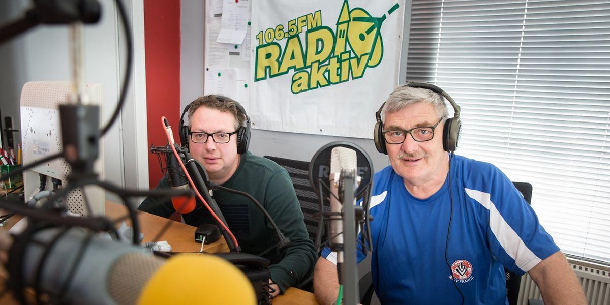 Die ehrenamtlichen Moderatoren Luc Hurt (links) und Marcel Gerson sind seit über 15 Jahren bei Radio Aktiv.