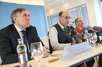 PK Explosion Munitionsdepot.Francois Bausch,Georges Oswald,Alain Duschène. Foto:Gerry Huberty