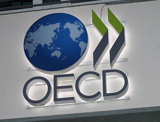 "The logo of the brand ""OECD"", Berlin."