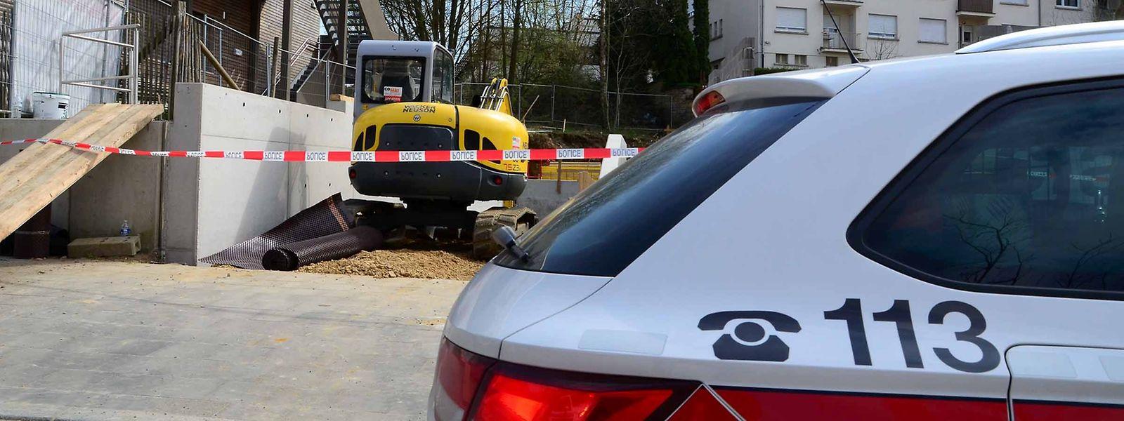 Der tragische Arbeitsunfall ereignete sich im April 2016 auf dieser Baustelle in der Rue de l'Avenir im Hauptstadtviertel Limpertsberg.