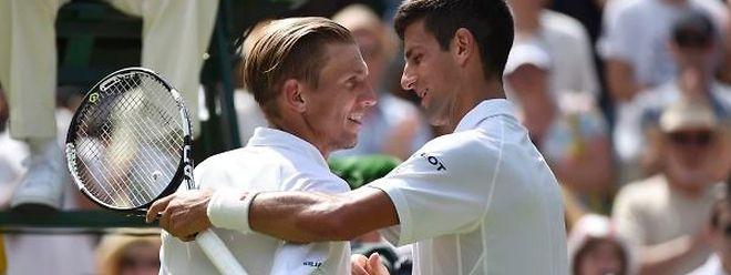 """Novak Djokovic: """"J'ai félicité Nieminen pour sa magnifique carrière. C'est un mec sympa, l'un des plus sympas du circuit, et un guerrier sur le court. C'est un plaisir de l'avoir affronté pour son dernier match ici""""."""