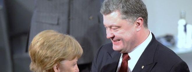 In München traf Angela Merkel den ukrainischen Präsidenten Petro Poroschenko.
