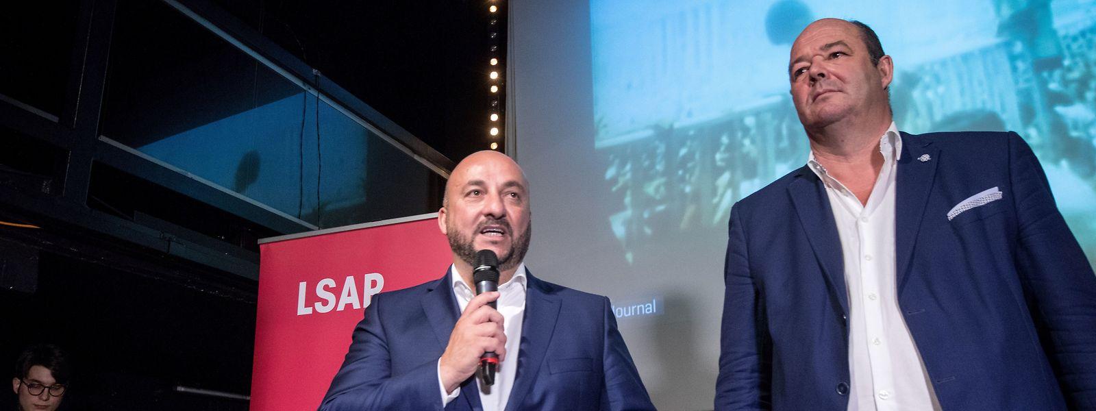 """""""Wir haben als Koalition ein Prozent Stimmen dazu gewonnen und noch immer eine Mehrheit"""", sagte Etienne Schneider am Wahlabend."""