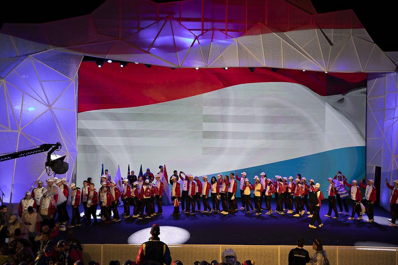 Die Eröffnungszeremonie am Montagabend.