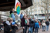 Pano , Aktion Youth for Climate Pless , Place d`Armes , Flashmob , Foto: Guy Jallay/Luxemburger Wort