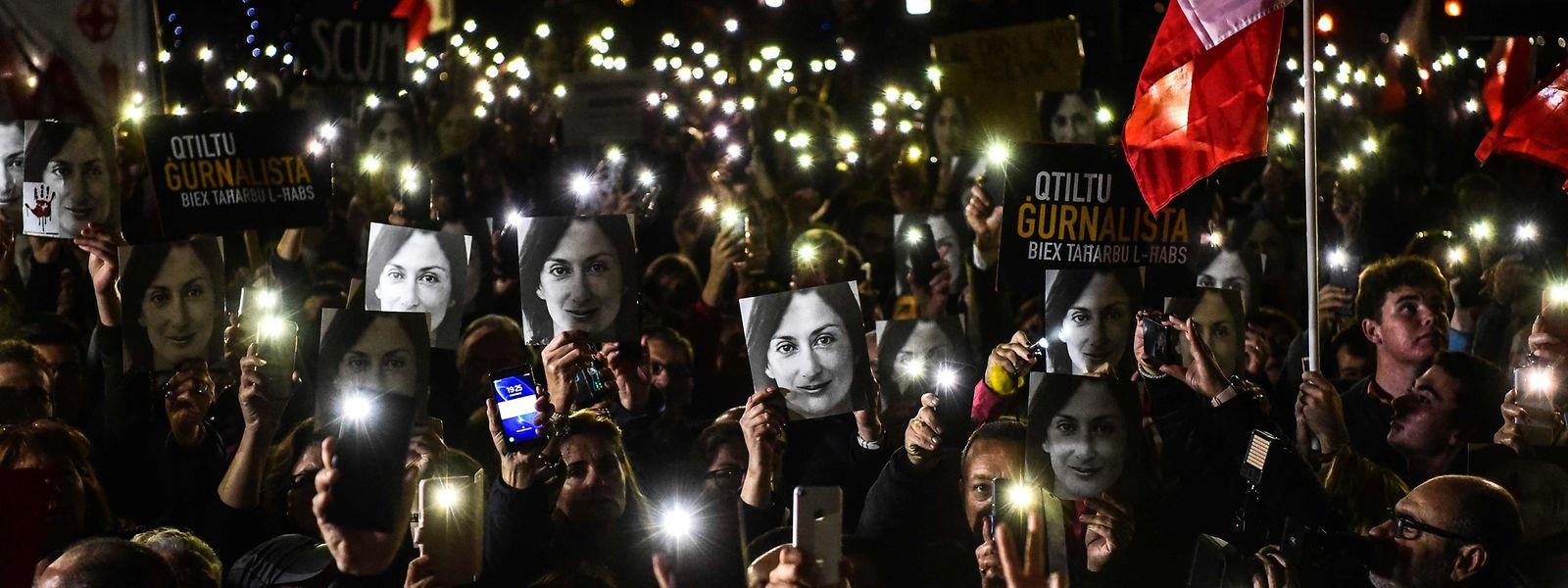 Der Auftragsmord an der Journalistin Daphne Caruana Galizia hat Tausende Menschen auf die Straßen gebracht.