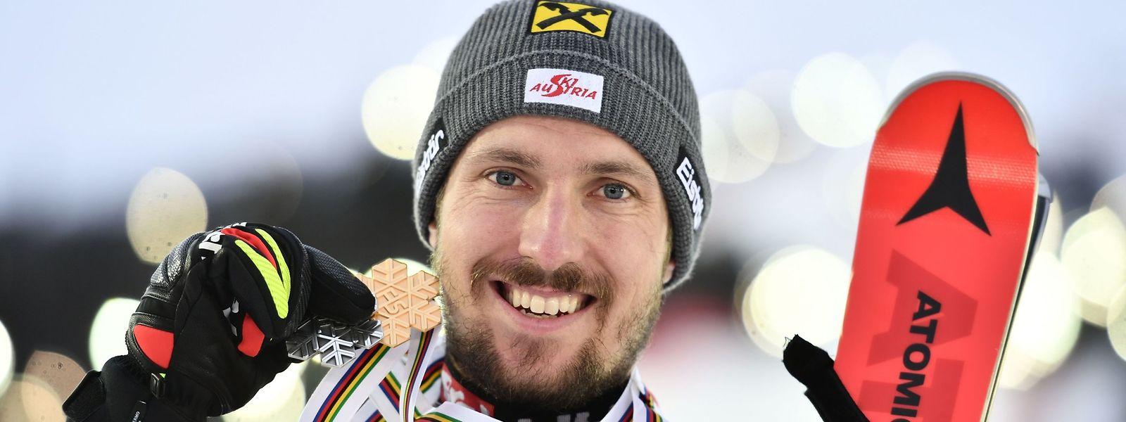 Marcel Hirscher freute sich über den Titel.