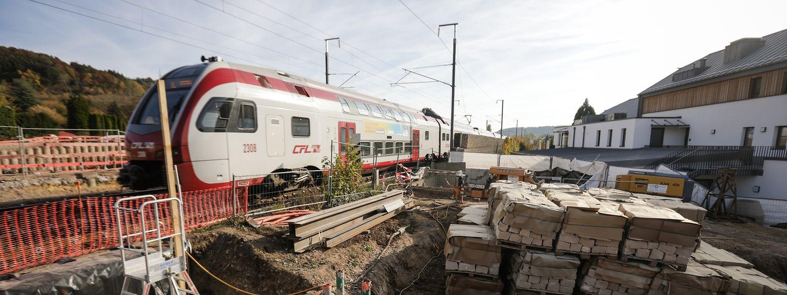 Am Bahnübergang PN17 entsteht derzeit eine Unterführung.