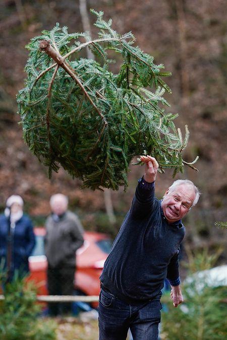 Die vom Verein FC Wacker Weidenthal gegründete «Weltmeisterschaft» wird im Dreikampf ausgetragen: Weitwurf, Hochwurf und Schleuderwurf eines ungefähr 1,50 Meter großen Weihnachtsbaums.