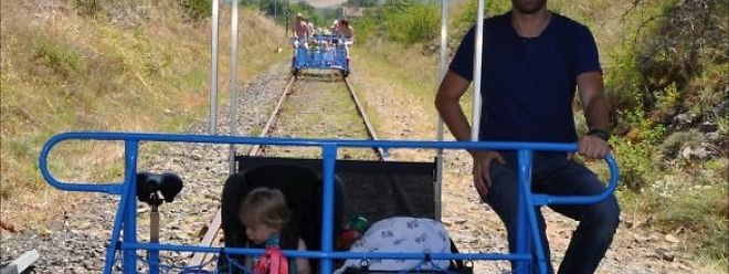 Ab August, sollen ähnliche Eisenbahndraisinen im Fond-de-Gras Besuchern zur Verfügung stehen.