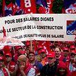 Manifestação dos trabalhadores da construção civil organizada pela OGBL na cidade do Luxemburgo.