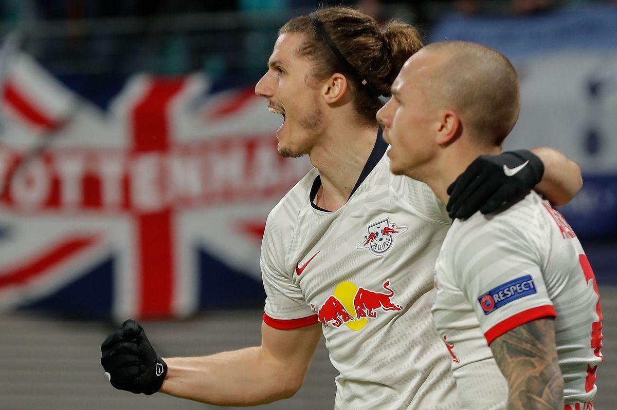 L'Autrichien Marcel Sabitzer s'est offert un doublé face aux Spurs.