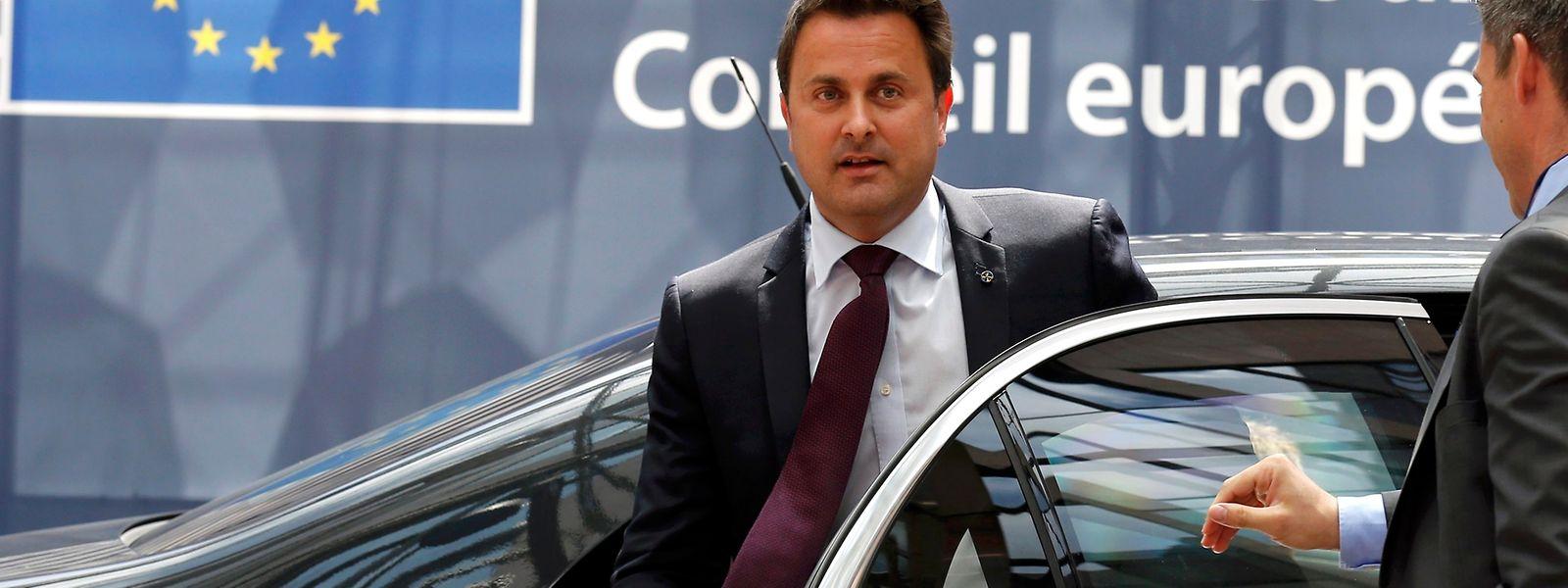 Die Regierung, hier Premierminister Bettel in Brüssel, fährt Audi, BMW oder Mercedes.