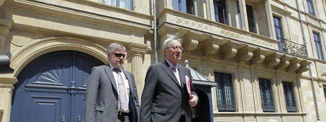 Juncker kommt aus dem großherzoglichen Palais. Nun liegt die Entscheidung beim Staatsoberhaupt.