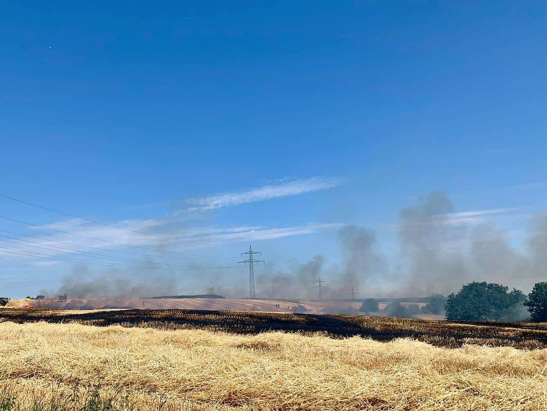 In Hiwingen brannten kurz nach 11 Uhr rund 1000 Quadratmeter.