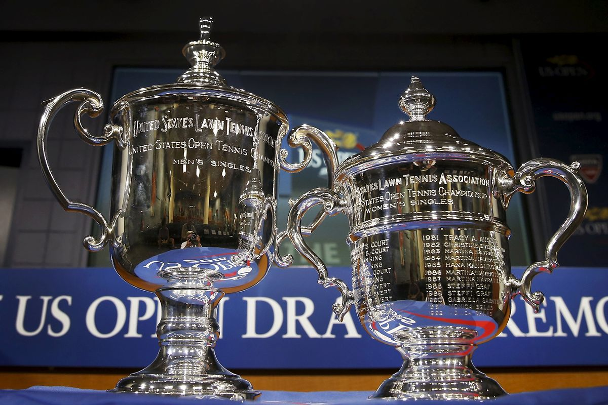 Diese Trophäen gibt es bei den US Open zu gewinnen.