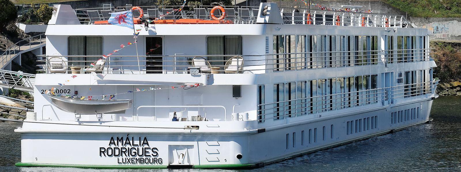 """Das neue Flusskreuzfahrtschiff """"Amália Rodrigues"""" fährt unter Luxemburger Flagge."""