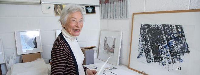 Yola Reding dans son atelier de Belair.