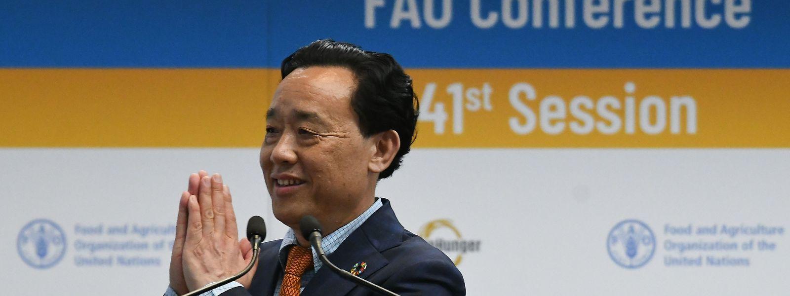 Qu Dongyu wurde für vier Jahre gewählt.