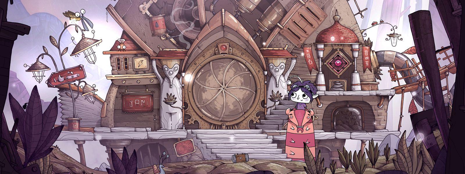 """Liebevolle Feinarbeit: Jeder Ort, den das kleine Mädchen in """"Tohu"""" besucht, strotzt vor witzigen Details."""