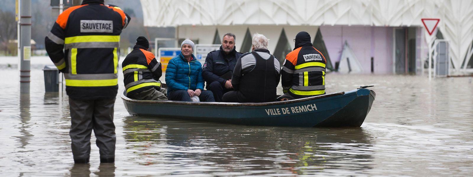 Das Hochwasser in Remich im Januar 2018.