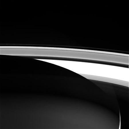 Eines der letzten Aufnahmen von Cassini, die von der NASA veröffentlicht wurden. Das Foto zeigt die Ringe des Saturn und wurde am 13. September aufgenommen. Auf der Erde wurde es am 14. September empfangen.