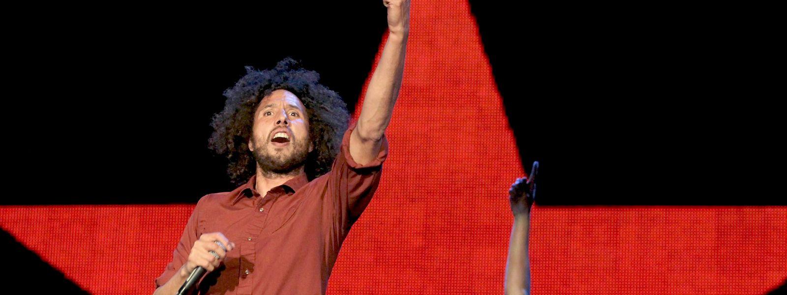 Die US-Band «Rage Against The Machine» mit Sänger Zack de la Rocha (l) und Gitarrist Tom Morello tritt beim Rock in Rio Madrid Music Festival auf.