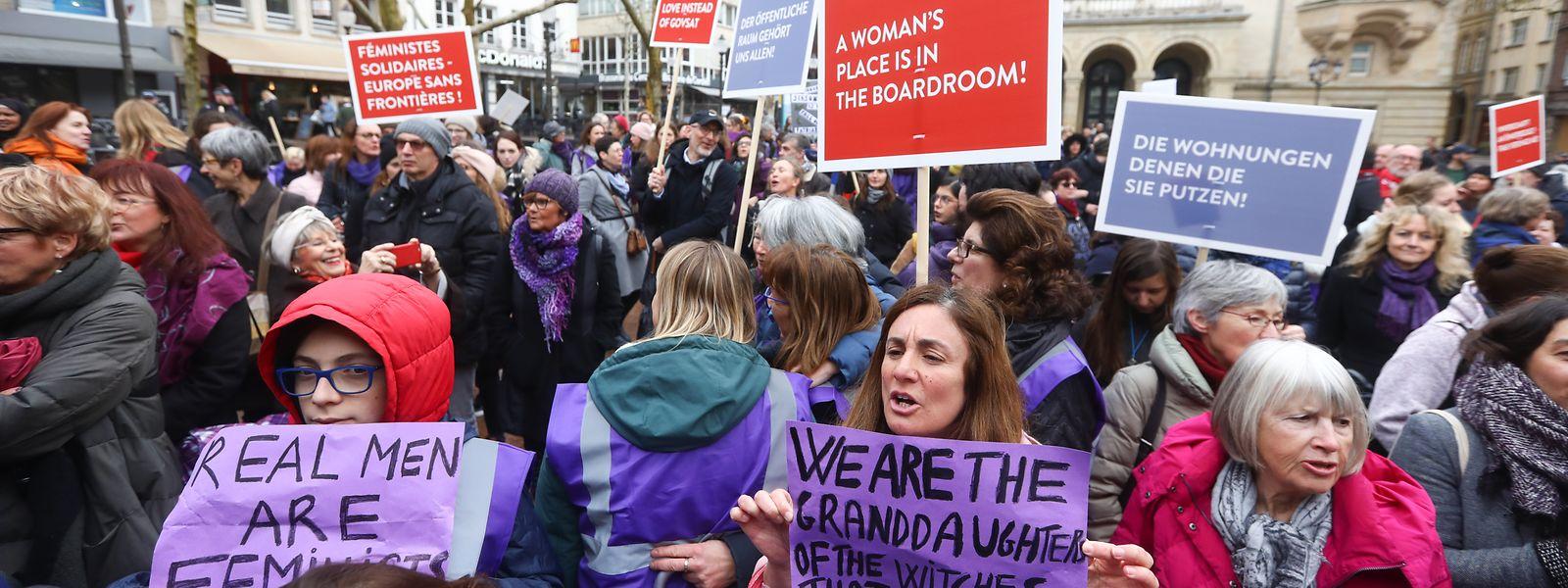 Ce lundi 8 mars, des mouvements et associations féministes appellent à la grève, comme en 2020, pour faire valoir les droits des résidentes luxembourgeoises.