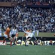 Argentina won 3-1 aet, Mario Kempes scoring twice. Pictured: Osvaldo Ardiles aka Ossie Ardiles makes a pass as Mario Kempes looks on. (Photo by MSI/Mirrorpix/Mirrorpix via Getty Images)