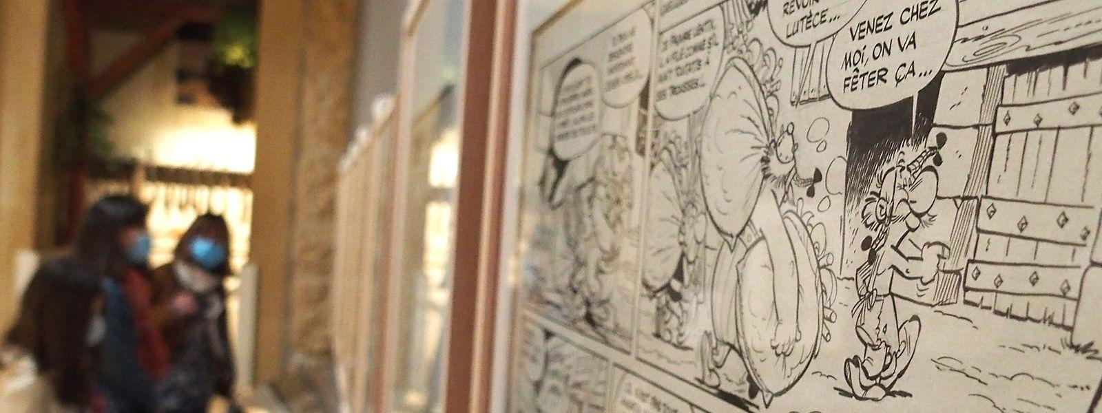 Neuf planches originales de l'album La Serpe d'or sont notamment visibles au fil de la visite.