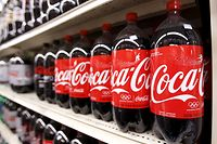 Bottles of Coca Cola are seen in a store display in New York in this February 9, 2010 file photo. REUTERS/Lucas Jackson/Files