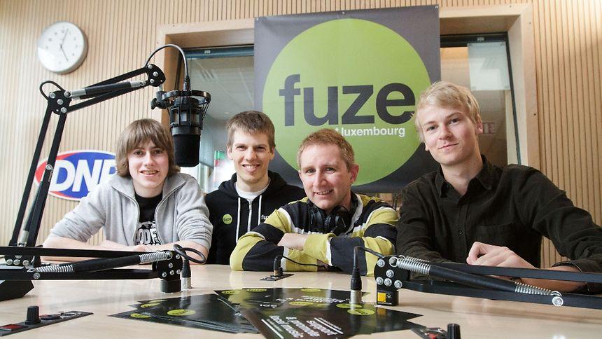 Chris, Daniel, Adam & Julius make up the FUZE team