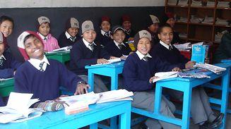 Prévention dans une école de la vallée de Katmandou au Népal.