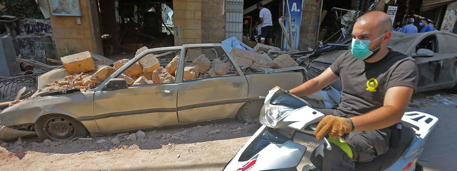 Die Doppelexplosion vom Dienstagabend hat fast die Hälfte Beiruts verwüstet.
