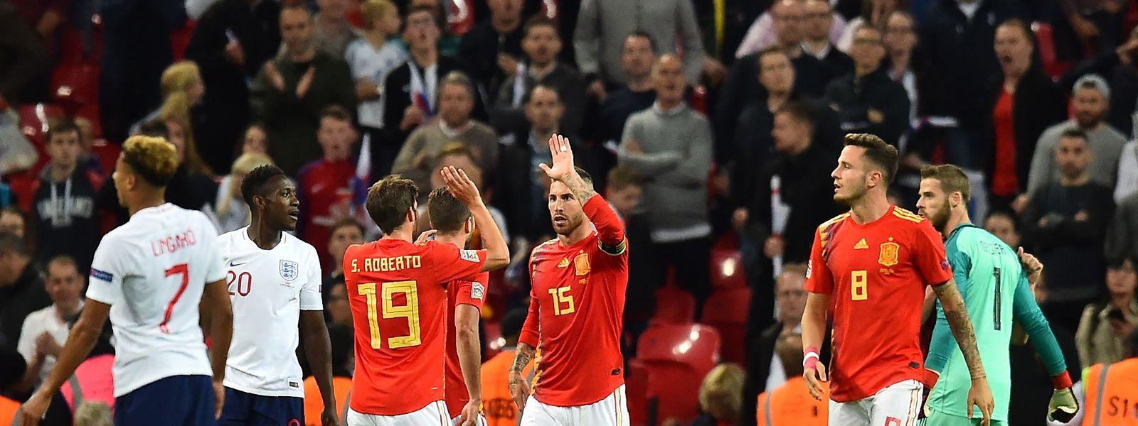 Sergio Ramos und seine Teamkollegen hatten allen Grund zur Freude.