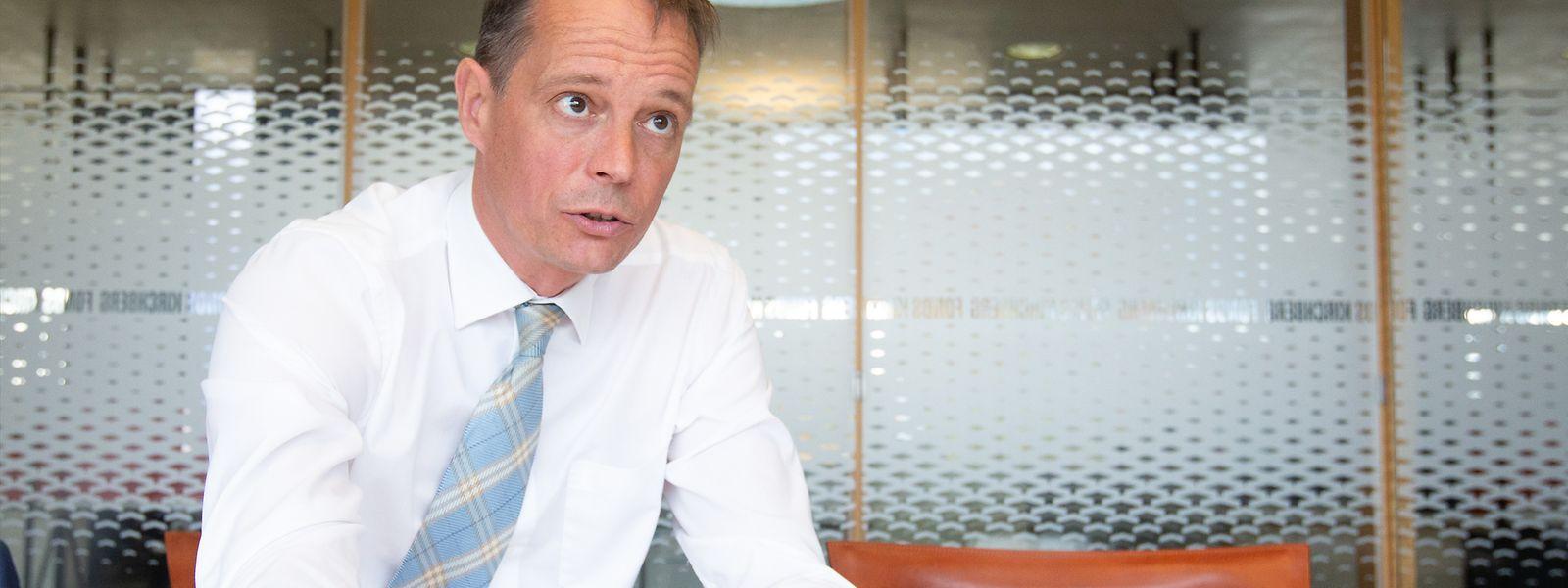 Marc Widong ist der erste Direktor des seit 1961 bestehenden Fonds Kirchberg. Der Posten wurde erst per Gesetz im Dezember 2019 geschaffen.