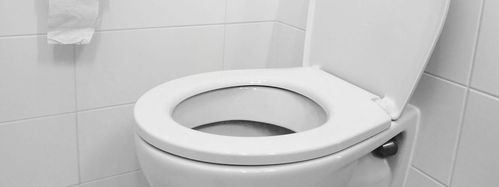 Das Schließen des Toilettendeckels vor dem Spülen verhindert eine Verwirbelung der Aerosole weitgehend.